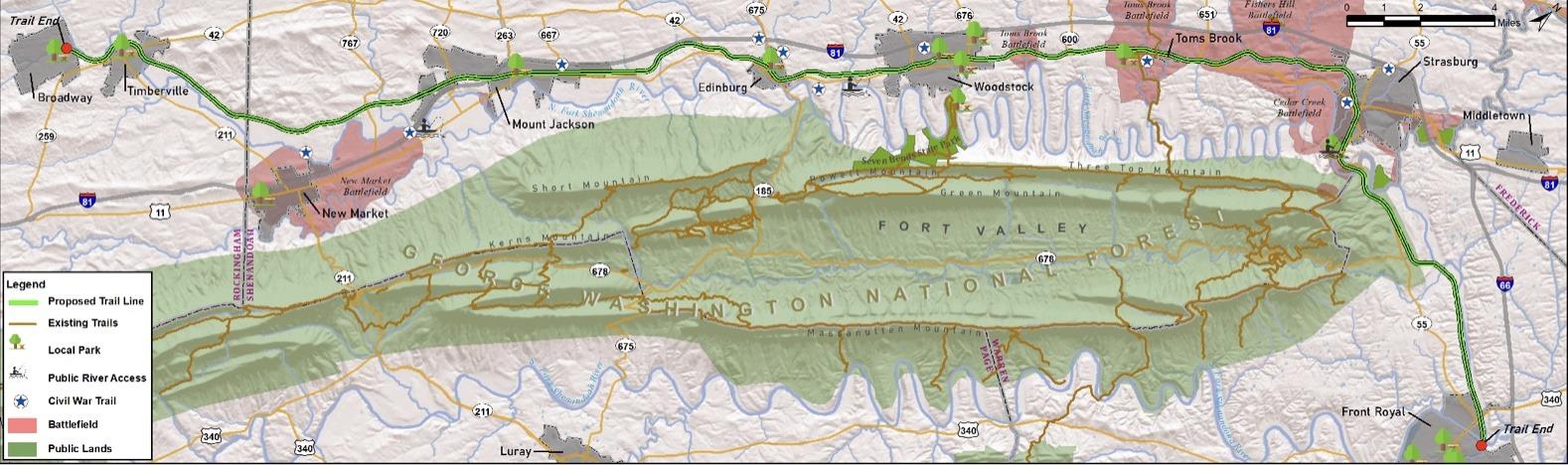Shenandoah Rail Trail Map 2